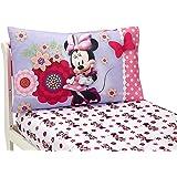 Disney Minnie Mouse Bow Power Toddler Sheet, 2 Piece Set, Pink, Purple