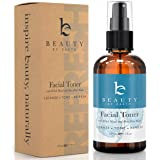 Facial Toner with Organic and Natural Witch Hazel Rose Water Astringent - Best Hydrating and Clarifying Face Spray for Daily