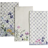 Maison d' Hermine Fa?ence 100% Cotton Set of 3 Kitchen Towels 20-Inch by 27.50-Inch.