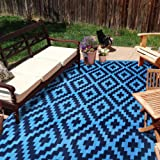 SAND MINE Reversible Mats, Plastic Straw Rug, Modern Area Rug, Large Floor Mat and Rug for Outdoors, RV, Patio, Backyard, Dec