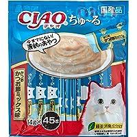 [Amazon限定ブランド] Figaro チャオ (CIAO) 猫用おやつ ちゅ~る かつお かつお節ミックス味 14…