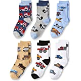 Jefferies Socks Little Boys' Trains/Trucks/Cars Pattern Crew