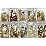resin incense sampler set - 1/4 oz packs of most popular reins includes- dragon's blood, frankincense, myrrh, benzoin, gold c