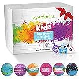 Sky Organics Kids Bath Bombs Gift Set With Surprise Toys, 6X5Oz Fun Assorted Colored Xl Bath Fizzies, Kid Safe, Gender Neutra