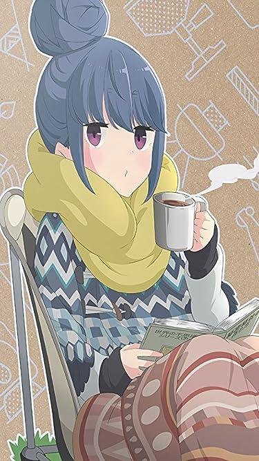 2021冬アニメ - 志摩リン(しま リン) 読書しながらコーヒー
