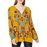Biya by Johnny was Women's Long Sleeve Cupra Rayon Blouse with All Over Embroidery