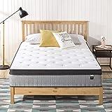 Zinus Support Plus iCoil Pocket Springs Queen Mattress Euro top Bed - High Density Foam Layer - Mattress in a Box - Medium Pl