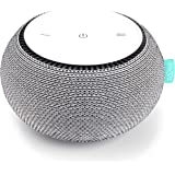 SNOOZ White Noise Sound Machine - Real Fan Inside for Non-Looping White Noise Sounds - App-Based Remote Control, Sleep Timer,