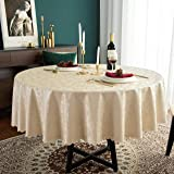 Hosonson Vinyl PU RoundTableCloth 60 Inch - Easy Care Waterproof Oil-Proof Stain ProofDecorationTablecloth- ReusableWip