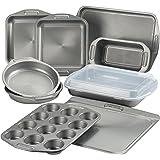 Circulon 46847 Total Nonstick Bakeware Set with Nonstick Bread Pan, Cookie Sheet, Baking Pan, Baking Sheet, Cake Pan and Muff