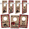 7 Lumberjack Baby Nursery Closet Organizer Dividers For Boy Clothing, Age Size Hanger Organization For Kid Toddler Infant New