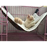 UsefulThingy Cat Hammock. Also for Ferret, Rat, Chinchilla, Rabbit, Small Dogs or Other Pet. Easy to Attach to a Cage. 3 Desi