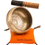 Tibetan Singing Bowl Set by TANTRA SOUNDS - Om Mani Padme Hum - Chakra Balancing, Excellent Resonance Healing & Meditation Yo