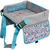 Kids Travel Tray by LillyCrafted-Premium Quality Toddler Car Seat Tray & Lap Table-with Touchscreen Phone & Tablet Holders-To