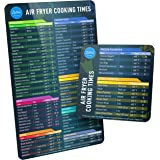 Air Fryer Magnetic Cheat Sheet Set, Air Fryer Accessories Cook Times, Airfryer Accessory Magnet Sheet Quick Reference Guide f