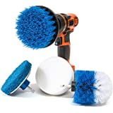 RevoClean RevoClean 4 Piece Scrub Brush Power Drill Attachments - All Purpose Time Saving Kit - Perfect for Cleaning Grout, T