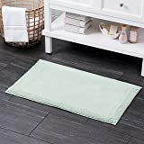 """100% Turkish Cotton Bath Rug with Non Slip Backing 21"""" X 34"""" Seagrass"""