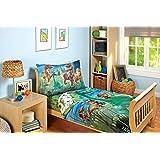 Disney Good Dino Arlo & Friends 4 Piece Toddler Bed Set, Blue, Green, Tan