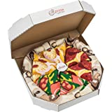 Rainbow Socks - Man Woman Pizza Socks Box Mix Italian Hawaii Pepperoni - 4 Pairs