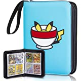 Clovercat Double Sided 50 Pages 4 Pocket Binder Compatible with Pokemon Cards, Portable Storage Case with Removable Sheets Ho