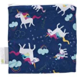 """Itzy Ritzy Reusable Snack Bag – 7"""" x 7"""" BPA-Free Snack Bag is Food Safe, Washable and Ideal for Storing Snacks, Pacifiers, El"""