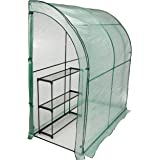 CO-Z Lean-to Greenhouse, Portable Walk in Green House with PE Cover, Waterproof Hot House UV Protected Walking Plant Green Ho