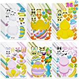 36 Pieces Easter Make A Face Animal Stickers with Easter Egg Themed Mix and Match Make Your Own Stickers with Easter Bunny, E