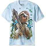 The Mountain Sloth & Butterflies Adult T-Shirt