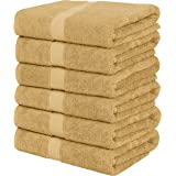 Utopia Towels Small Cotton Towels, Beige, 22 x 44 Inches Towels for Pool, Spa, and Gym Lightweight and Highly Absorbent Quick