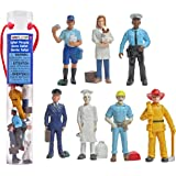 Safari Ltd People TOOB with 7 Everyday Heroes Figurine Toys, Including Construction Worker, Policeman, Mailman, Pilot, Chef,