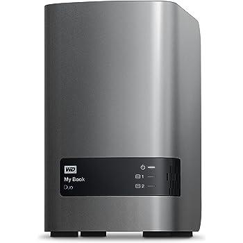 WD HDD 外付けハードディスク 4TB  My Book Duo WDBLWE0040JCH-JESN USB3.0/RAID 0,1対応/3年保証