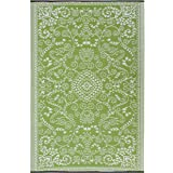 Recycled Plastic Outdoor Rug and Mat Murano Lime Waterproof and Reversible (180x270cm)