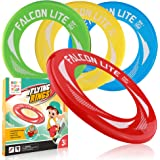 Flying Discs for Kids 4 Pack Flying Rings for Party Outside and Play -Pool Toys for Kids Adult-Garden Flying Toys with Healty