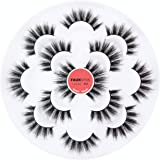 5D Faux Mink Lashes Handmade Luxurious Thick Volume Fluffy Natural Dramatic False Eyelashes 7 Pairs (MAGIC)