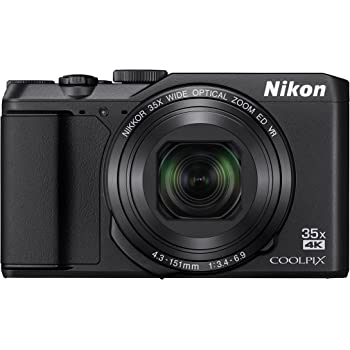 Nikon デジタルカメラ COOLPIX A900 光学35倍ズーム 2029万画素 ブラック A900BK クリーニング クロス付き