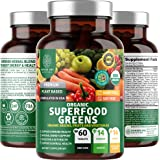 N1N Premium Organic Super Green, Fruits & Veggies [28 Powerful Ingredients] All Natural Superfood Supplement with Alfalfa, Be