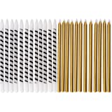Papyrus 5300204 Birthday Gold (24-Count), White and Black Stripe Candles