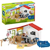 Schleich Farm World 27-piece Vet Practice Playset with Animal Toys for Kids Ages 3-8