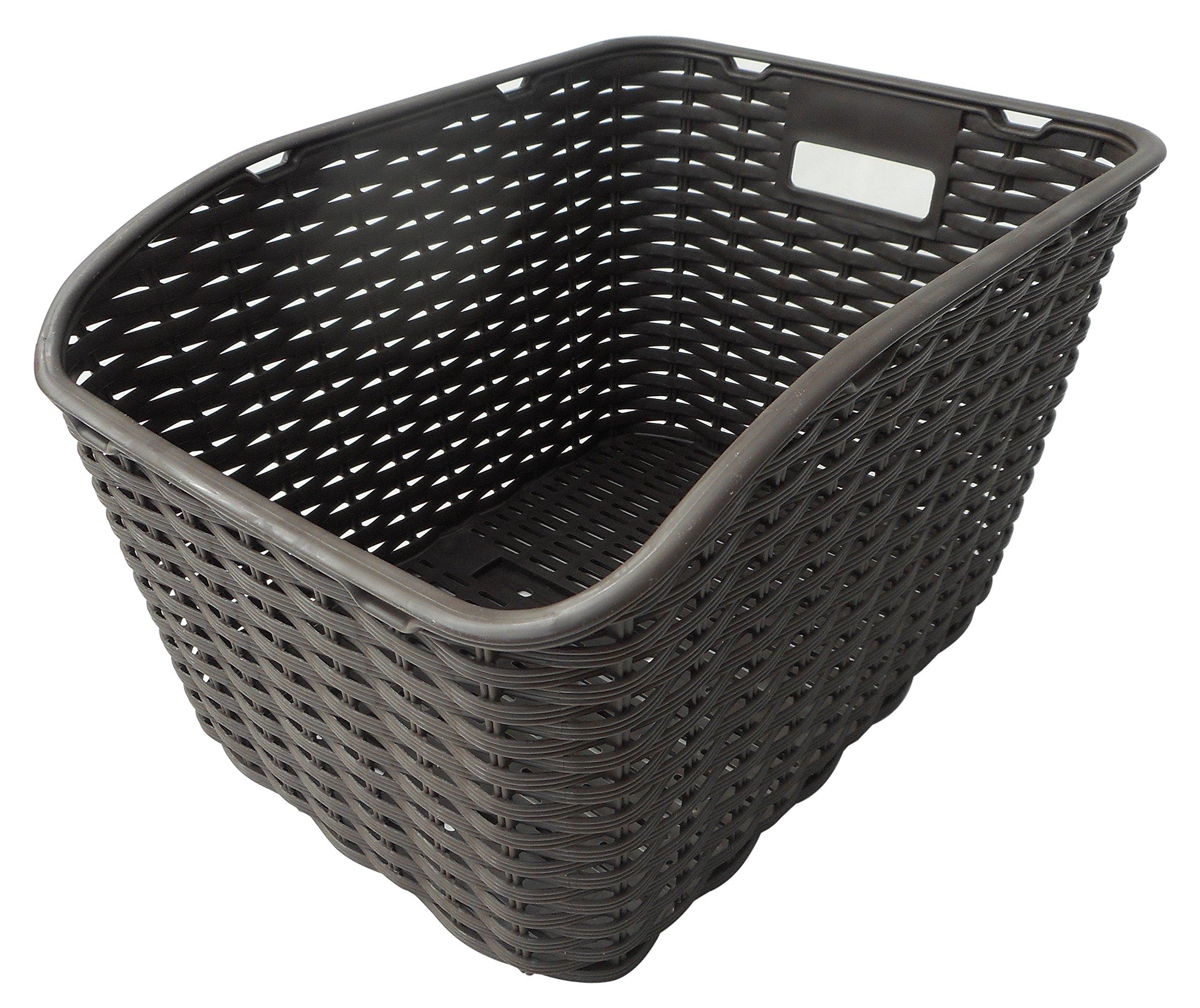 カゴ 樹脂製リヤバスケット ブラウン 49102