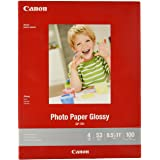 """CanonInk Glossy Photo Paper 8.5"""" x 11"""" 100 Sheets (1433C004)"""