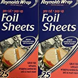 Reynolds Wrappers Pop Up / Foil Sheets (2 Pack) No cutting or Tearing