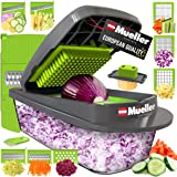 Mueller Austria Pro-Series Onion Mincer Chopper, Slicer, Vegetable Chopper, Cutter, Dicer, Vegetable Slicer with Container an