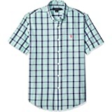U.S. POLO ASSN. Mens Short Sleeve Plaid Woven Shirt Short Sleeve Button Down Shirt