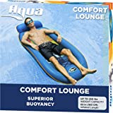 AQUA Comfort Water Lounge, X-Large, Inflatable Pool Float with Headrest & Footrest, Surfer Sunset