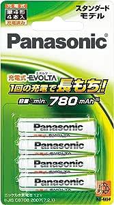 パナソニック 充電式エボルタ 単4形 4本パック(スタンダードモデル)