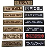 Bundle 13 Pieces Tactical Morale Patch Embroidery Military Patches Set for Caps,Bags,Backpacks,Tactical Vests,Military Unifor