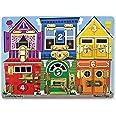 Melissa & Doug 3785 Wooden Latches Board (Developmental Toy, Sturdy Wooden Construction, Helps Develop Fine Motor Skills, 39.