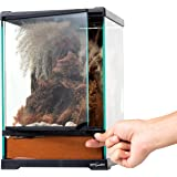 REPTI ZOO Mini Reptile Glass Terrarium,Front Opening Door Full View Visually Appealing Mini Reptile or Amphibians Glass Habit
