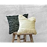 satTva Cushions Covers Set of 2 -𝙱𝙾𝙷𝙾 𝙷𝙰𝙽𝙳𝚆𝙾𝚅𝙴𝙽 Throw Pillow Covers For Living Room Sofa 45x45~ 1 Moroccan Black
