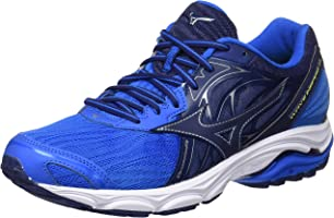 Mizuno Men's Wave Inspire Shoes, Directoire Blue Depths/Safety Yellow, 10 US